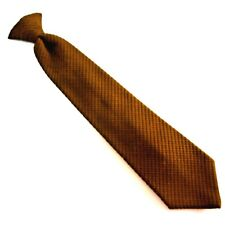 Vintage Wembly Clip on Neck Tie Mustard Textured Mens 4
