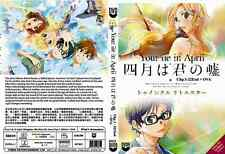 DVD  Your Lie In April Vol 1-22 End + OVA Shigatsu wa Kimi English Dubbed