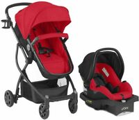 BABY Stroller Car Seat 3in1 Travel System Infant Carriage Buggy Bassinet Red