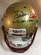 "Bobby Bowden Signed FSU Full Size Helmet w ""93-99 NATL Champs!"" PROOF & JSA"