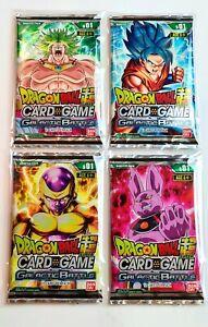 Dragon Ball Super Booster Pack Galactic Battle Sealed All 4 Art Packs DBS DBZ DB