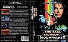 Moonwalker Reino Unido PAL Sega Megadrive caja de sustitución insert case reproducción de arte