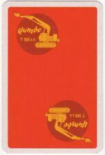 Playing Cards 1 Single Swap Card Old Vintage Advertising YUMBO  Y100DP EXCAVATOR