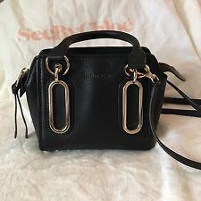 See by Chloe Mini Paige Black Leather Crossbody bag