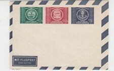 AUSTRIA 1949 UPU AIRMAIL ENVELOPE, 15g 40g 60g, VF UNUSED