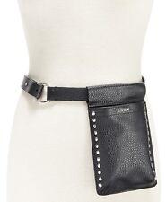 DKNY Women's studded fanny pack Black Leather S/M