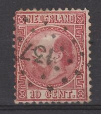 NVPH Netherlands Nederland 9 TOP CANCEL ARNHEM-OLDENZAAL 137 1867 Willem III