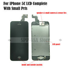 Replacement For iPhone 5C Black LCD Touch Screen Digitizer Home Button +Camera