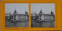 Parigi 1900 Palais Dei Foresta Expo Universale Foto Stereo Vintage Analogica