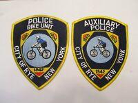 New York Rye City Police Bike Patrol Patch & Auxiliary