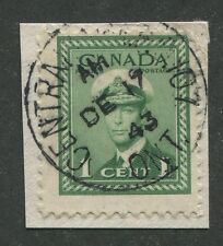 "CANADIAN MILITARY POST OFFICE CANCEL ""CENTRALIA ONT. - M.P.O. 107"""