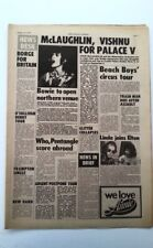 DAVID BOWIE 'opens Hardrock in Manchester' 1972 ARTICLE / clipping