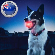 Pet Dog Puppy LED Flashing Light Up Bouncy Ball Tough Soft Chew Play Fetch Toy