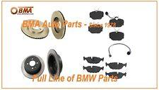BMW E30 BRAKE KIT FRONT & REAR ROTOR PAD SENSOR PADS 318i 325 325e 325i 325is