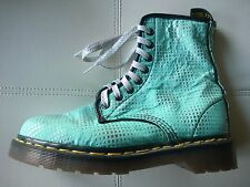DOC DR MARTENS AQUA METALLIC SILVER BOOT RARE VINTAGE MADE IN ENGLAND UNISEX UK4