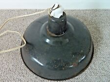 Retro Reclaimed French Industrial Light/Lamp Shade Grey Enamel Wonderful!