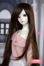 BJD Doll Hair Wig 7-8 inch 18-20cm 1/4 SD DZ DOD LUTS Dark brown F090