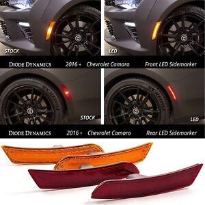Diode Dynamics LED Sidemarkers for 2016-2021 Chevrolet Camaro Amber Red Side Set