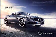 Mercedes SLK Class 07 / 2013 catalogue brochure