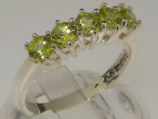 Peridot Eternity Natural Sterling Silver Fine Rings