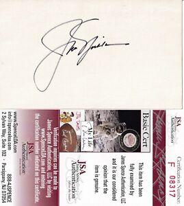 """GOLFER JACK NICKLAUS """"THE GOLDEN BEAR"""" AUTOGRAPH 3X5 INDEX CARD JSA CERTIFIED"""