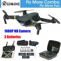 Eachine E58 RC Drone Wifi FPV 1080P HD Camera Foldable Quadcopter + 3 Batteries