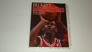 1st Basketball Beckett Price Guide Michael Jordan on Cover Patrick Ewing Back