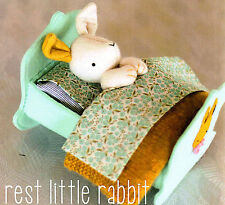 REST LITTLE RABBIT - Sewing Craft PATTERN - Soft Toy Felt Doll Bear Rabbit