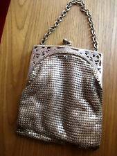 Vintage 20s 30s flapper Filigree Chain Mail Mesh Purse 4.5x5.5""