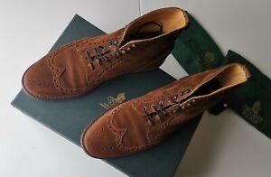 Crockett and Jones Skye 4 Mens Suede Brogue Boots UK8.5