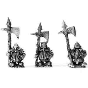 Chaos Dwarf Warriors Pole Axe x3 28mm Unpainted Metal Wargames