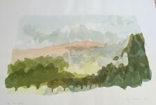 Limited Edition Collected Artist Ruth Kerkovius Modern Landscape Print