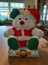 Vintage Fisher Price Puffalumps Christmas Mouse Plush Santa Claus