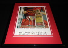1960 Seagram's Extra Dry Gin Martini 11x14 Framed ORIGINAL Advertisement