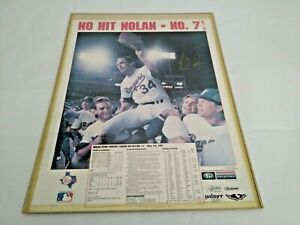 """Nolan Ryan May 1, 1991  Autographed LIMITED EDITION MLB 17"""" x 22"""" Poster! RARE!"""