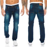 Rock Creek Designer Herren Jeans Clubwear Hose Denim Blau Gerades Bein LL-397