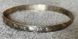 Vintage Danecraft Sterling Silver Heart Bangle
