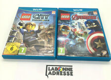 WII U 2 JEUX VIDEO LEGO AVENGERS + LEGO CITY UNDERCOVER - COMPLET FRANCAIS - TBE