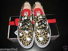 Vans Authentic Hello Kitty Kids Leopard True White shoes size 2.5 VN-OWWXDKS New