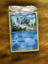 Pokemon Cards Squirtle PROMO Build-A-Bear Workshop Stamped. Rare NEW & SEALED