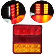 12V Truck Trailer Caravan 22 LED Tail Stop Indicator Number Plate Light E8 IP67