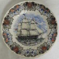 "CHURCHILL POTTERY CURRIER IVES TALL SHIPS US SHIP OF THE LINE OHIO 10"" DNR PLATE"