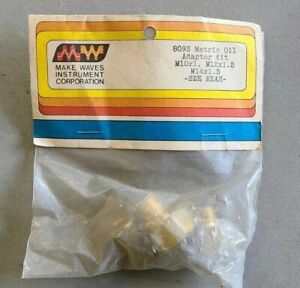 Makes Waves Instruments 8093 Brass Oil Pressure Installation Metric Kit Adapters