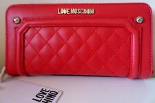 Love Moschino Large Leather Ladies Zipped Purse Wallet - Red