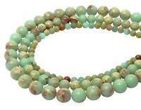 😏 Schlangenhautjaspis Kugeln 4, 6 & 8 mm Edelstein Perlen Jaspis Strang 😉