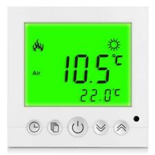 REGOLATORE di temperatura riscaldamento termostato VERDE LCD tastierino blocca programmabile
