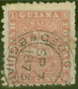 British Guiana 1871 8c Brownish Pink SG96 P.10 Fine Used GEORGETOWN CDS Ex- F
