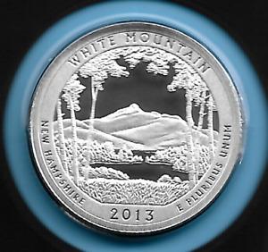 New Hampshire ATB Silver Quarter 2013 S White MT Silver Proof Quarter 90%Silver