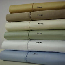 1000 TC Solid Split King 100% Cotton Deep Pocket Sheet Sets