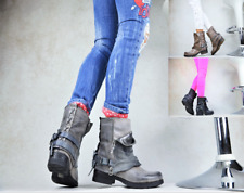 New Designer Ladies' Shoes Biker Boots Ankle Boots Studs Lined